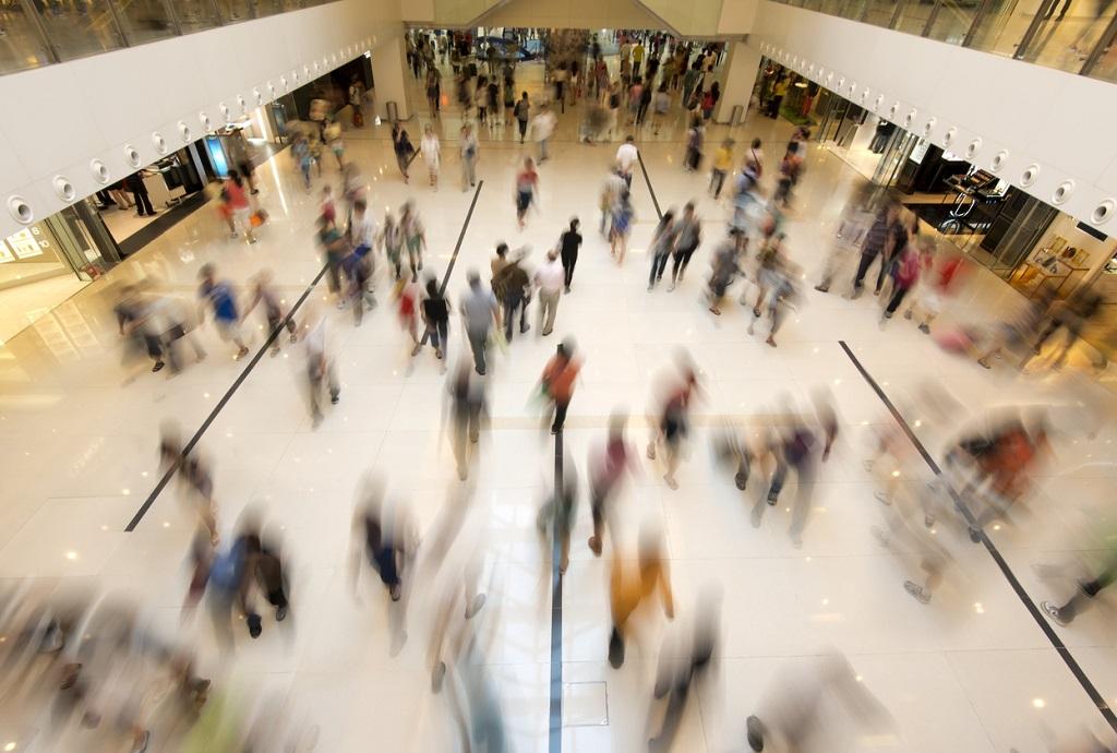 People Walking in Shopping